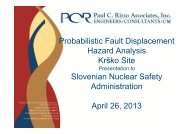 Probabilistic Fault Displacement Hazard Analysis Krško Site ...