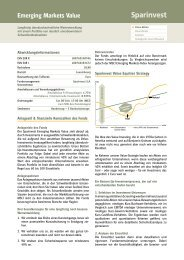 Emerging Markets Value 2-Pager - Sparinvest SA