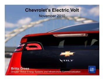 Chevrolet's Electric Volt - Alabama Clean Fuels Coalition