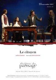 Le citoyen - Théâtre du Passage
