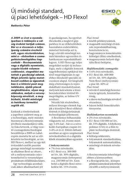 Új minőségi standard, új piaci lehetőségek – HD Flexo! - mgonline