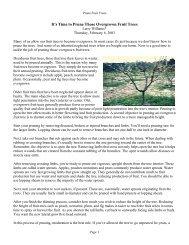 Prune Fruit Trees - Leon County Extension - University of Florida