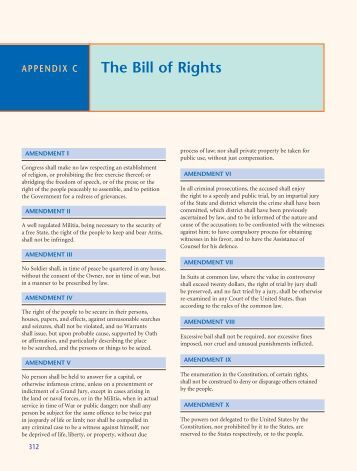 Essay question about the bill of rights