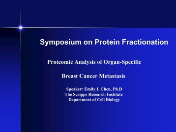Proteomic Analysis of Organ-Specific Breast Cancer Metastasis