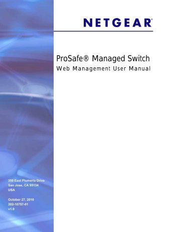 ProSafe® Gigabit L3 Managed Stackable Switches ... - Netgear