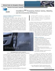 IntelliDriveSM Promoting Vehicle Safety, Mobility, and ... - RAL