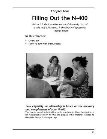 Instructions For N 400 Application For Naturalization