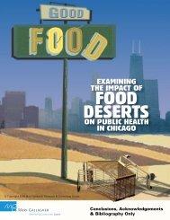 FOOD DESERTS - Mari Gallagher