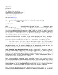 A Sample Letter to the Homeland Security Advisory Council's Task ...