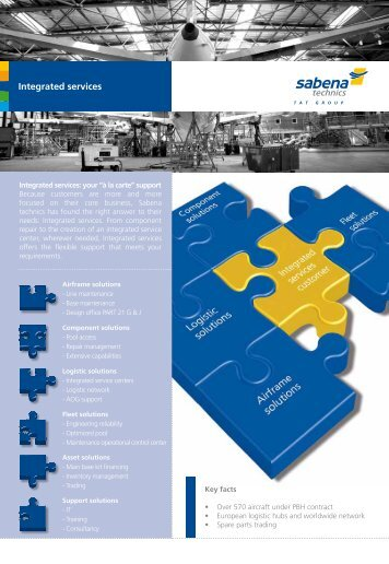 brochure integrated services - Sabena technics