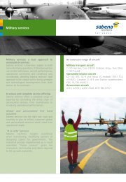 brochure military services - Sabena technics