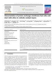 Characteristics of proton exchange membrane fuel cells cold start ...