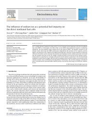 The influence of sodium ion as a potential fuel impurity on the direct ...