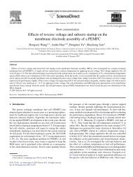 Effects of reverse voltage and subzero startup on the membrane ...