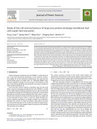 Journal of Power Sources Study of the cell reversal process of large ...