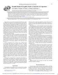 Partially Reduced Graphite Oxide as Anode for Li-Capacitors - ECS ...