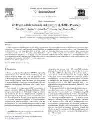 Hydrogen sulfide poisoning and recovery of PEMFC Pt-anodes