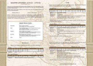 SALADIN (AYYUBID) 1174 CE - Great Escape Games
