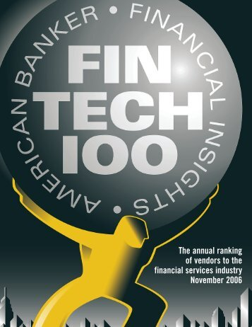 The annual ranking of vendors to the financial services ... - Intralinks