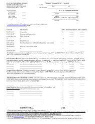 plan of study form - 2003/2004 - Three Rivers Community College