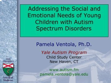 Addressing the Social and Emotional Needs of Young Children