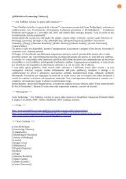 Arte Pubblica in Italia: lo spazio delle relazioni - Connecting Cultures