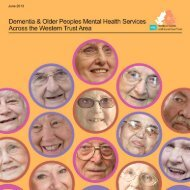 Dementia and Older People's Mental Health Services Across the ...