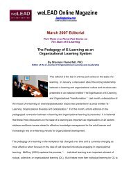 The Significance of E-Learning and Organizational Transformation