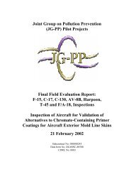 Aircraft inspections - Chromate free primers JGPP - Team Site