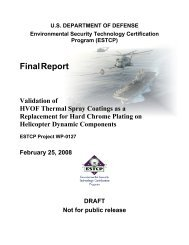 HVOF on Helicopter Components DRAFT Final Report - Team Site