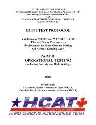 Landing gear HVOF JTP Part II rig and flight