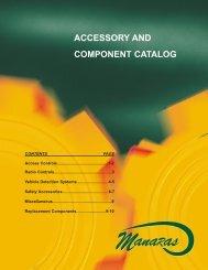 Accessory and Component Catalogue - Manaras