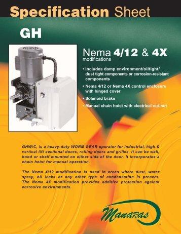 Specification Sheet GHW/C - Manaras