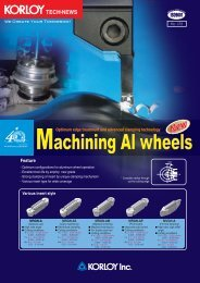 Machining Al wheels - Korloy.com