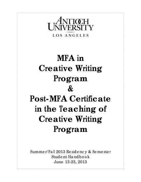 mfa creative writing los angeles