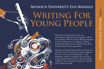 Writing For Young People - Antioch University Los Angeles