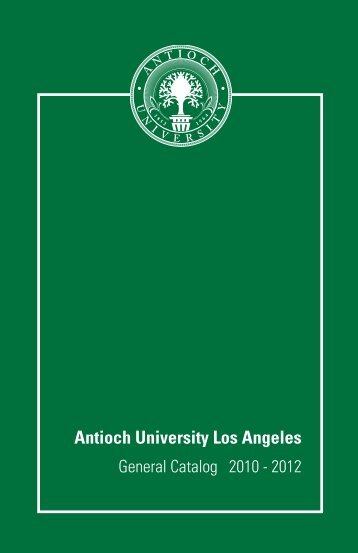 AULA Catalog - Antioch University Los Angeles