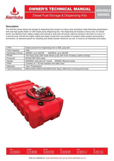 GPI 110121-8 3//4 NPT Straight Spout Automatic Unleaded Nozzle