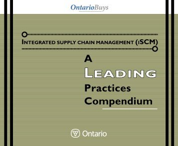 A Leading Practices Compendium (PDF) - Supply Chain Management