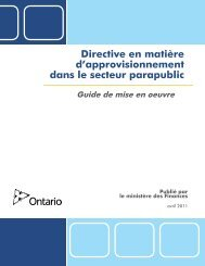 Guide de mise en oeuvre (PDF) - Doing Business with Government