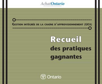 Recueil des pratiques gagnantes (PDF) - Doing Business with ...