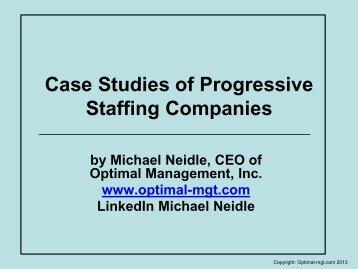 Case Studies of Progressive Staffing Companies - Optimal ...