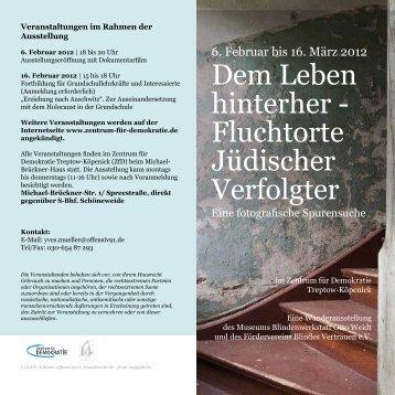 Flyer zur Ausstellung kann hier - Zentrum für Demokratie