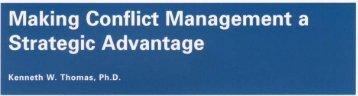 Conflict Management - Change Partnership