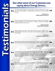 See what some of our Customers are saying about Energy Sentry...