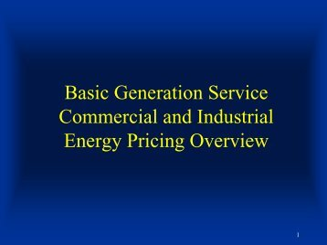 Basic Generation Service Hourly Pricing Presentation