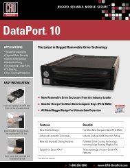 DataPort® 10 The Latest in Rugged Removable Drive ... - OSCS