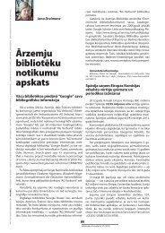 Ārzemju bibliotēku notikumu apskats - Academia