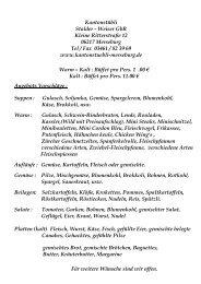 Kantonstübli Stalder - Weiser GbR Kleine Ritterstraße 12 06217 ...
