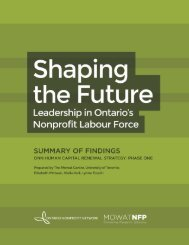 Shaping the Future - Ontario Nonprofit Network